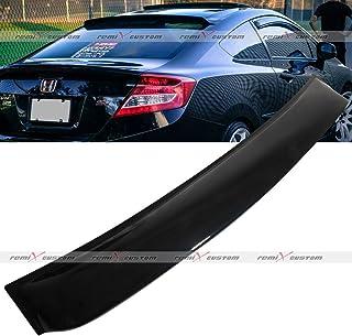 Remix Custom Rear Roof Window Visor Spoiler Wing for 2012-2015 Honda Civic 2DR Coupe