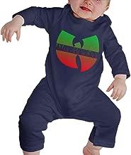 SININIDR Newborn Jumpsuit Infant Baby Girls Wu-Kanda Long-Sleeve Bodysuit Playsuit Outfits Clothes Black