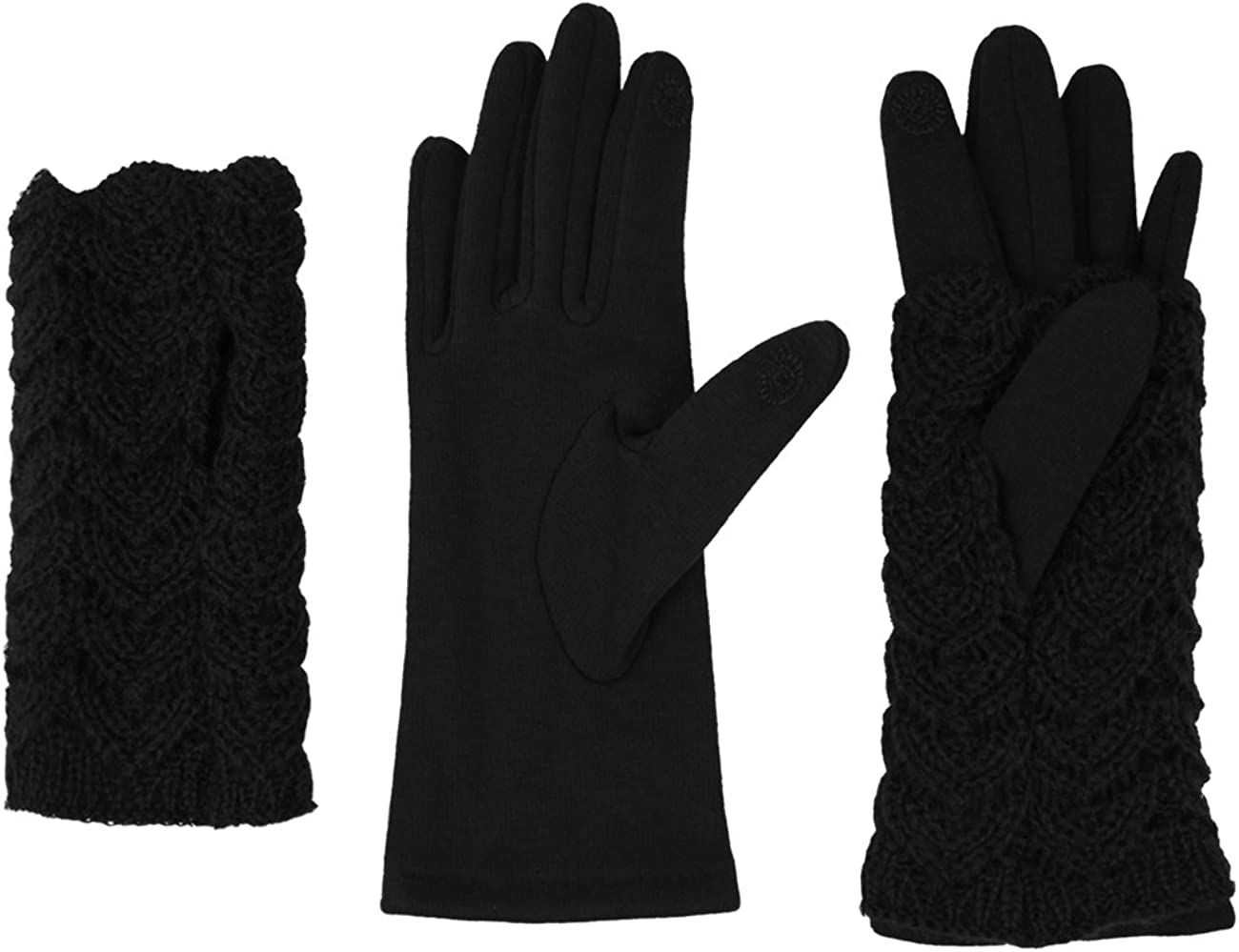 Dahlia 2 in 1 Touchscreen Gloves for H with Women Lined Seattle Mall Fleece Ranking TOP3 -