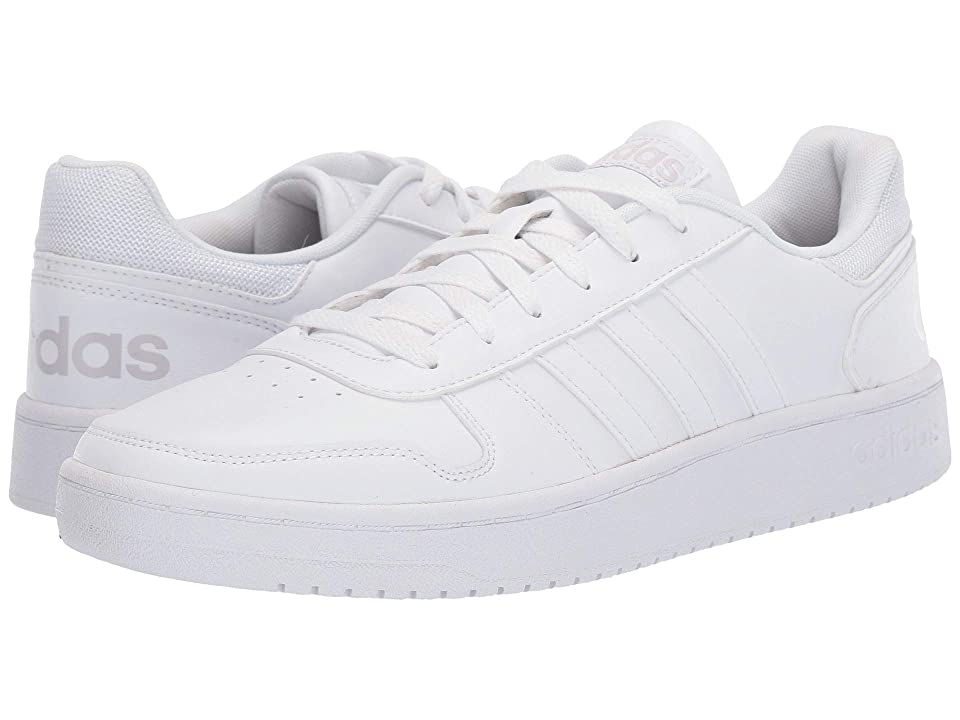 adidas Hoops 2.0 (White/Grey) Men's Basketball Shoes
