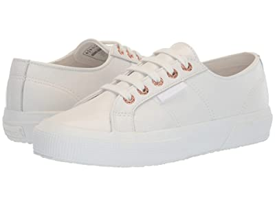 Superga 2750 Nappaleau Sneaker (White/Rose) Women