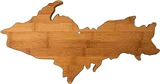Arrowhead Bay Michigan Upper Peninsula Shaped Bamboo Serving and Cutting Board