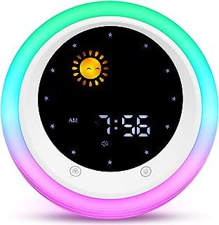 I·CODE Alarm Clock for Kids, Children's Sleep Trainer, Kids Night Light & Wake Up Light, Sleep Sound Machine ,Tell Me Day&Night