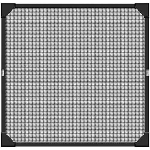 Schellenberg 50748 Protezione dagli Insetti con Finestra Magnetic, Antracite, 100 x 120 cm
