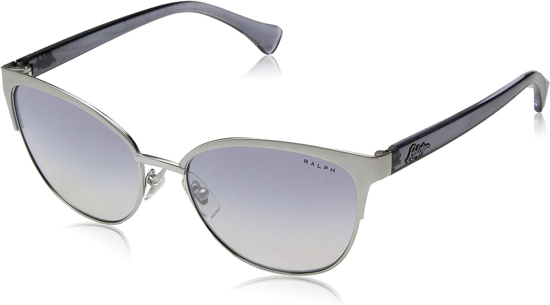 Ralph by Ralph Lauren Women's 0ra4127 Round Sunglasses silver 56.0 mm