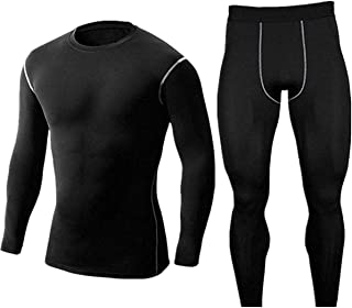 WINDCHASER Men's Thick Thermal Underwear Set, Wicking Long Johns Quick Dry Base Layer Sport Compression for Mountaineerin...