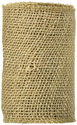 Darice Burlap Ribbon, 6-Inch by 5-Yard, Natural