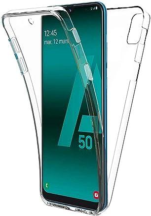 COPHONE® Coque Compatible Samsung Galaxy A50 Transparente 360 degrès en Gel Protection Integral et Invisible. Housse Silicone Haute qualité