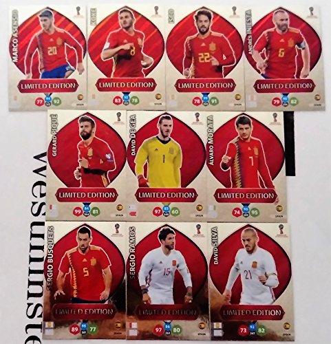 Adrenalyn Lote Cards Edición Limitada Spain XL Mundial Rusia 2018