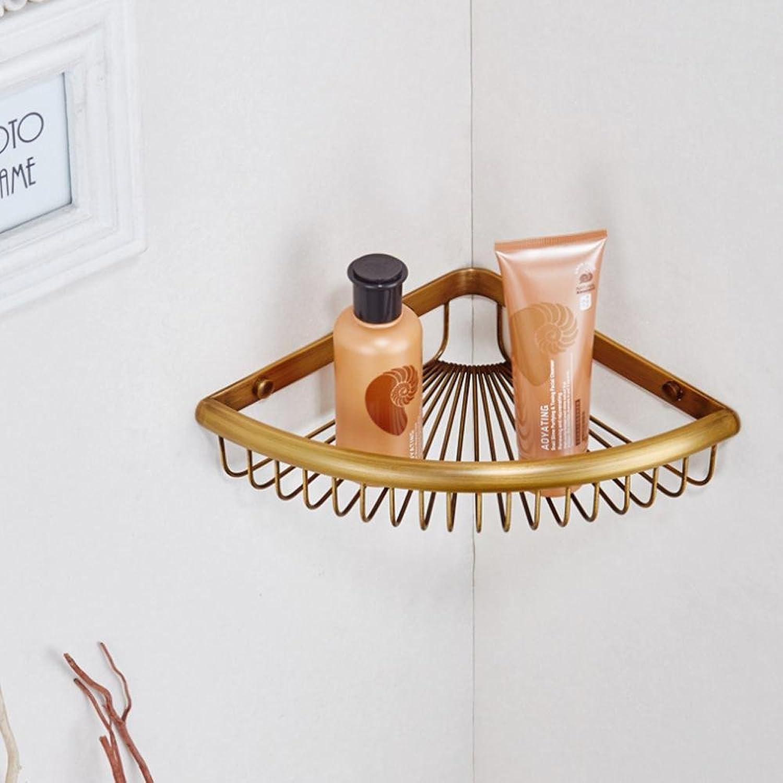 XAH@ Copper antique single-layer triangular bathroom rack