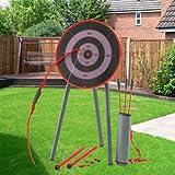 Parkland® Garden Archery Set Game Outdoor Fun Bow Arrows Target Blow Pipe & Darts Party