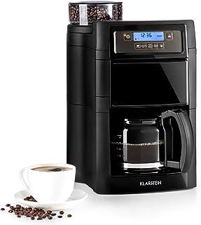 comprar comparacion Klarstein Aromatica II - Máquina de café con molinillo cónico, 5 niveles, Jarra de cristal 1,25 L, Temporizador 24h, Filtr...