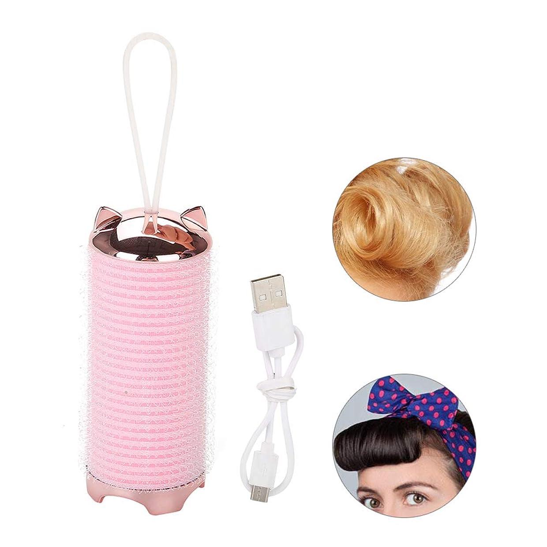 ブレースそのようなジャニス電気ヘアカーラー、 ヘアスタイルツール 巻き髪 かわいい波パーマ棒 持ち運び便利 前髪 パーマ カーラー カールチューブ 携帯用 美容用品