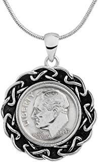 1942 US Coin Pendant - 77th Birthday for Woman - 100% Satisfaction Guarantee