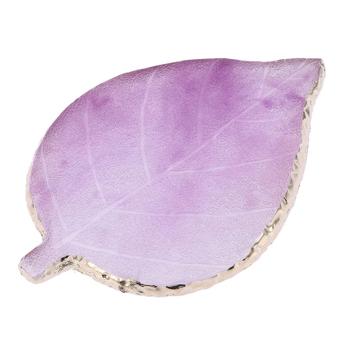 ペンダント石の提唱するLurrose 1ピースリーフネイルカラーパレット樹脂ネイルミキシングパレットネイルアートディスプレイボード(バイオレット)