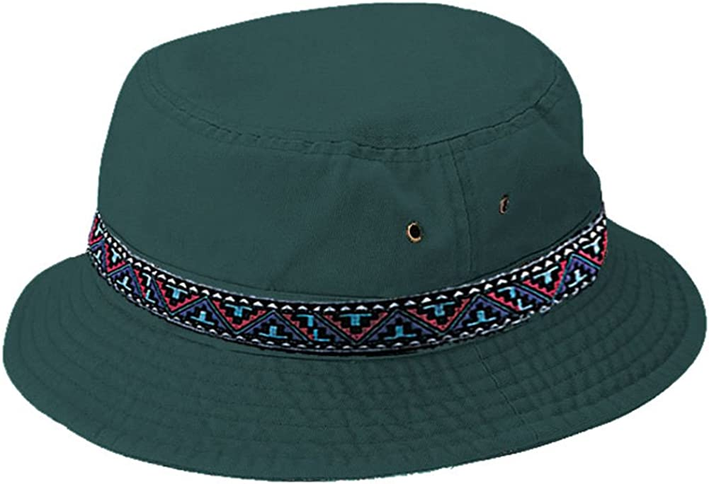MCap Cotton Max 62% OFF Twill Washed Bucket Tribal Band Max 62% OFF Hat with