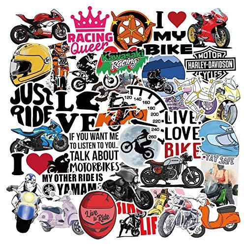 YZFCL Motorcycle Sticker Lever Box Skateboard Refrigerator Notebook Mobile Phone Hand Account Helmet Sticker 50pcs