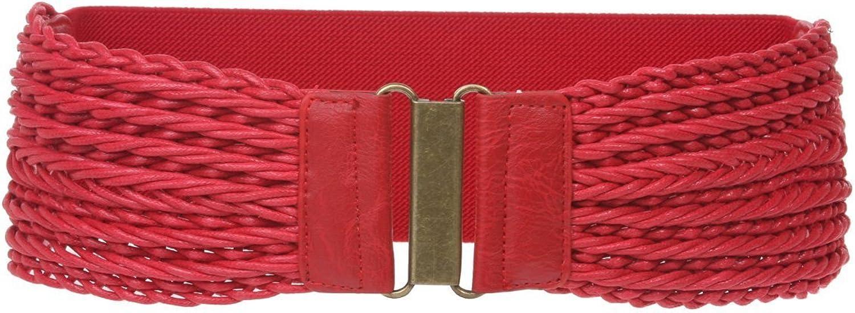 3  Wide High Waist Fashion Braided Stretch Belt