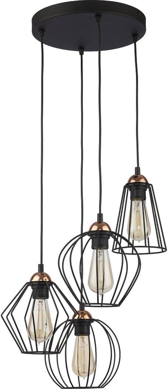 Hnge Lampe Wohnzimmer Leuchte Kfig Hngelampe Retro Schwarz 46 cm (Modell IV)