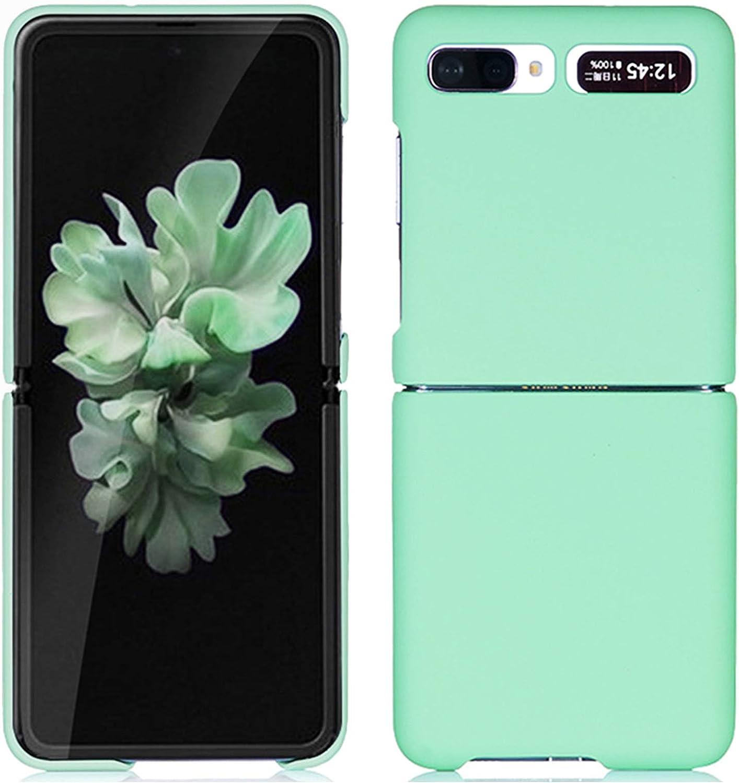 Miimall Compatible Samsung Galaxy Z Flip Case Women Men Ultra Thin PC Hard Cover Shock-Proof Anti-Scratch Protector Bumper Case for Samsung Galaxy Z Flip(Green)