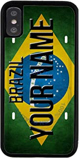 BRGiftShop Customize Your Own License Brazil Plate Rubber Phone Case for Apple iPhone Xs Max