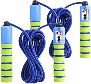 KINGSOO Gift for Kids,2 Pack Speed Jump Rope Adjustable Lightweight Skipping Rope for Heart Boxing Exercise Equipment (2PA...