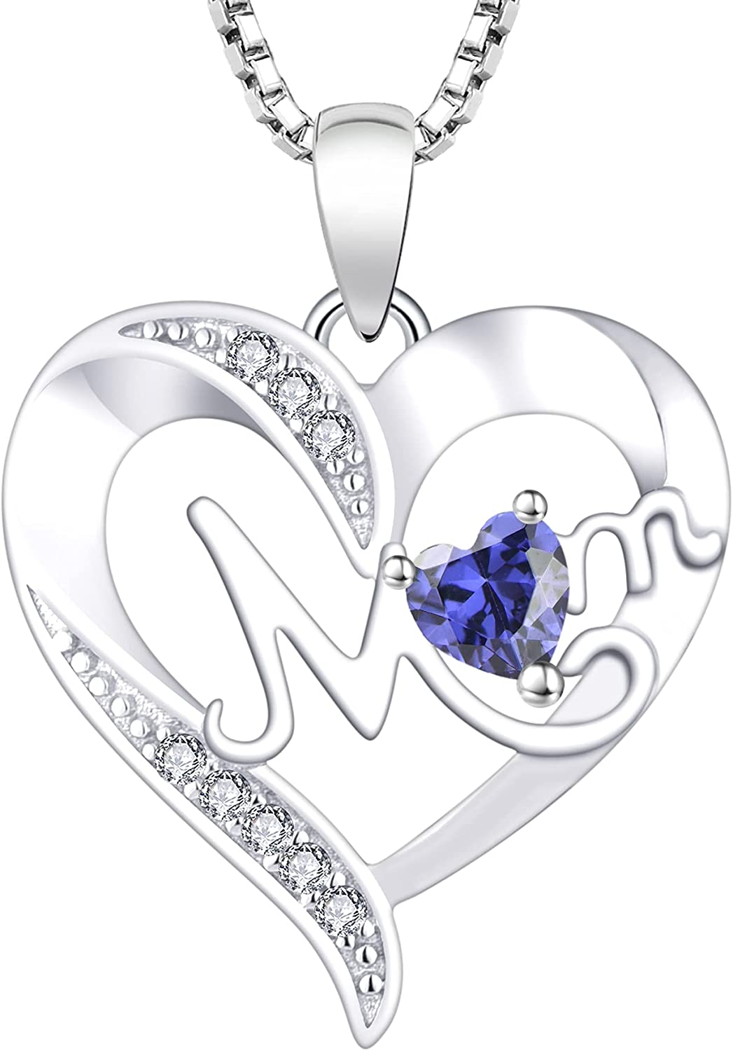 YL Branded goods Women's Heart Necklace Brand Cheap Sale Venue Sterling Pendant Mom Silver Birthstone