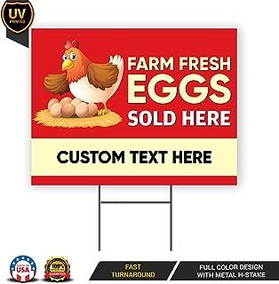 farm fresh eggs yard sign