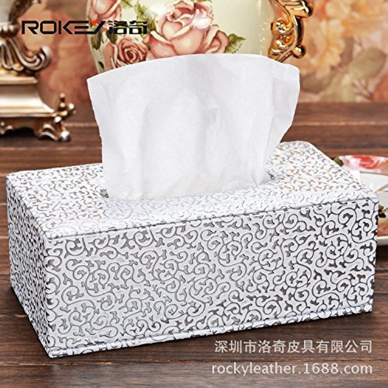 HL-PYL Leder Papier Handtuch Box Pu Leder Leder Karton Karton, F, 18,5 X 11,5 X 9 cm B0791FNKJP | Moderne Muster