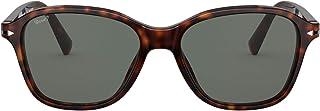 نظارات شمسية من بيرسول للرجال PO3244SS هافانا مستقطبة خضراء