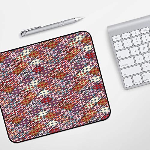Gaming Mousepad Mauspad,Dekor der amerikanischen Ureinwohner, ethnischer Nomadenteppich mit nahtlosem Muster,Komfort Mousepad - verbessert Präzision und Geschwindigkeit