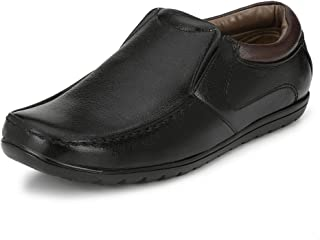 Sir Corbett Men's Synthetic Formal Slip On Shoe(Rubber Comfort Sole)