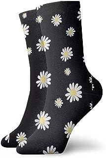 iuitt7rtree Calcetines reforzados para calcetines de margarita blanca para adultos