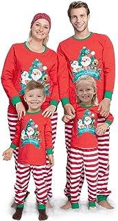 QNONAQ Navidad A Juego Pijamas New Navidad de la Familia de la Familia Pijamas Set Ropa a Juego de Navidad de la Familia Look Ropa for Adultos niños Pijamas Set bebé Romper Ropa de Dormir