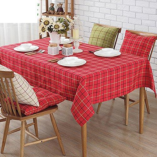 Tafelkleed/doek, Amerikaans katoen en linnen, tafelkleed, restaurant en bar, geruit tafelkleed, tafelkleed, tafelkleed, ronde tafel 130x190cm(51x75inch) F