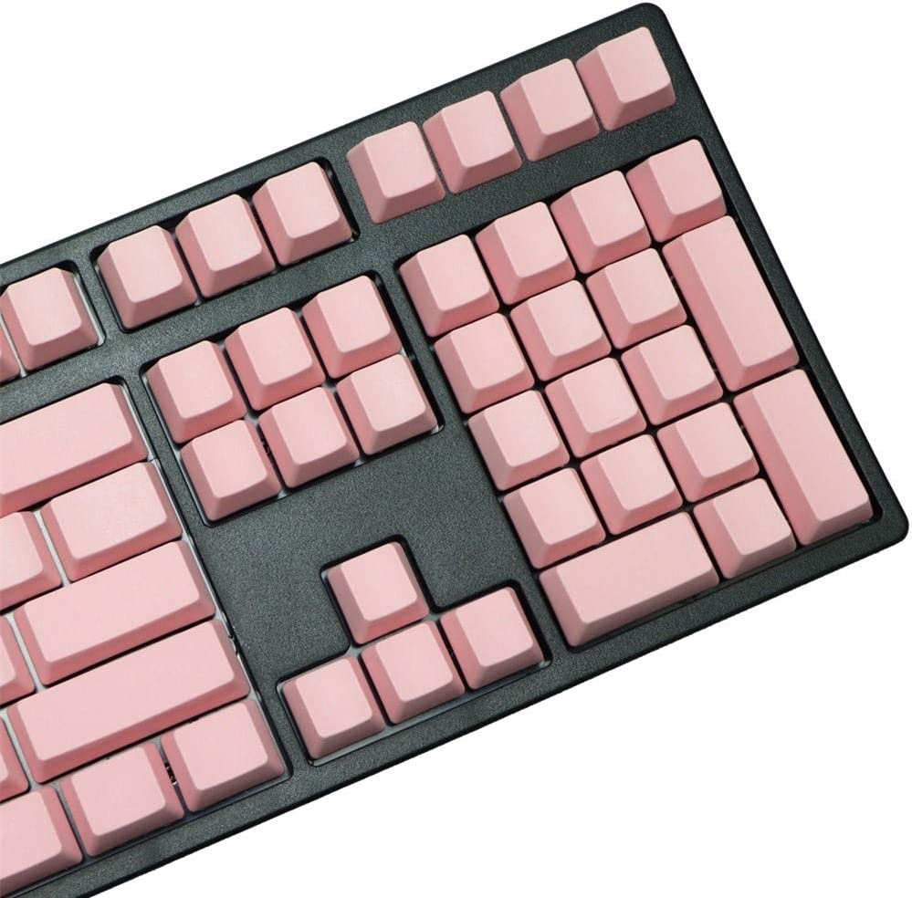 Axis Body : 108 Keys, Color : Pink Man-hj Keyboard keycaps Blank Printed 108 Keys Blue Pink Profile Thick Pbt Keycaps for Wried USB Mechaniacal Gaming Keyboard Iso Keycap