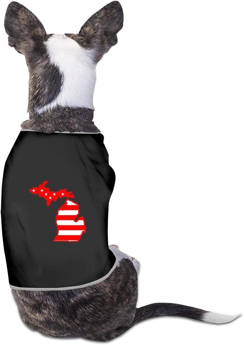 pengyong American Flag Michigan Map Ranking TOP12 Dog Pet Shirts Cat Puppy T-S New life