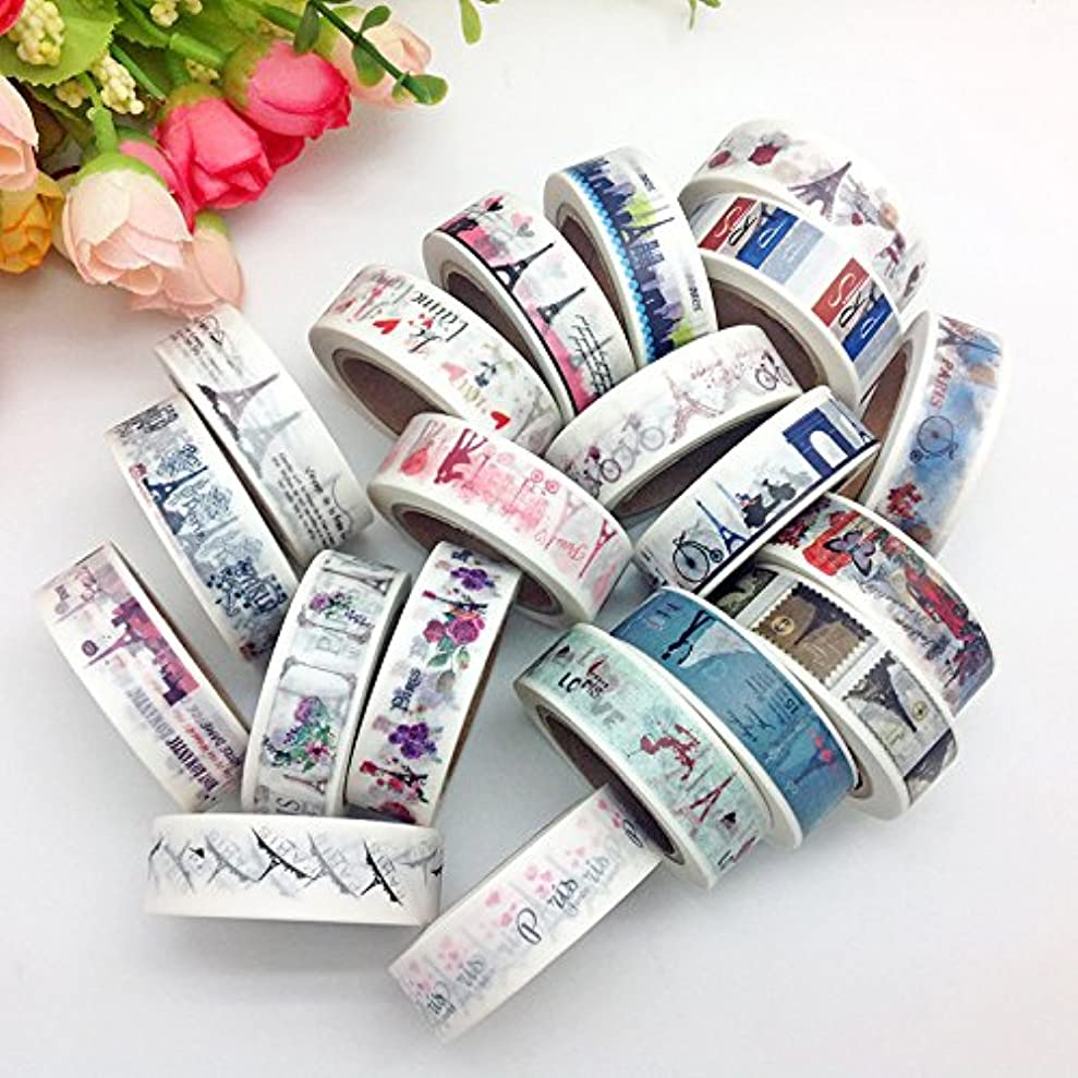 AceLove 20 Rolls Washi Masking Tape Set, Decorative Washi Paper Tape With Colorful Designs and Patterns for DIY Crafts frguzesxp6239
