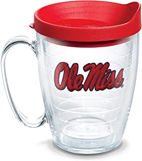 Tervis 1056781 Ole Miss Rebels Logo Tumbler with Emblem and Red Lid 16oz Mug, Clear