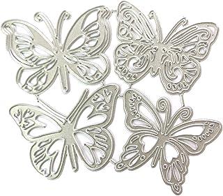Lezed Dies de Decoupe Scrapbooking Matrice Papillons Forme Gaufrage Matrice de Découpe de Papillons Découpage Carré Stenci...