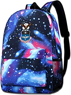 States Air Force Academy Galaxy Casual Daypack - Unisex Backpack Shoulder Bag For School Travel