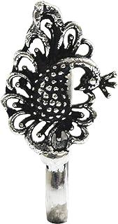 AyA Fashion Women's Oxidised Clip On Nose Pin(Oxidised,Set of 1)