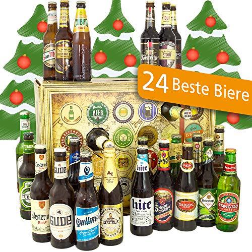 Bier Adventskalender Welt und Deutschland mit Tsingtao + Tiger + Hite Pale Lager + mehr/Geschenkidee Adventskalender mit Bier/Bier Adventskalender 2019