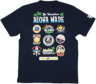 ALOHA MADE アロハメイド メンズ 半袖 Tシャツ (メンズ/D.ネイビー) 202MA1ST057 フララニ サーフブランド ハワイアン 雑貨 (M)
