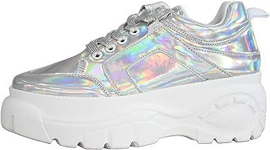 Amazon.com: Holographic Platform Shoes