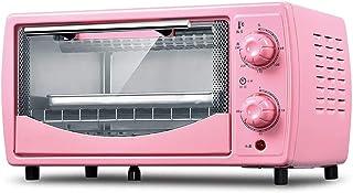 Mini horno eléctrico compacto, mini horno y parrilla con placas calientes dobles, mini horno con parrilla eléctrica, mini horno para hornear doméstico, temporización de rotación de 30 minutos, capaci