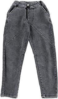 HOSD Jeans para niños Pantalones Finos de Verano para niños Ropa para niños de otoño Pantalones para niños Grandes Marea p...