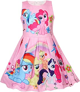 AmyStylish Little Girls A Line Summer Breathable Casual Play-Wear One Piece Birthday Party Sun Dress