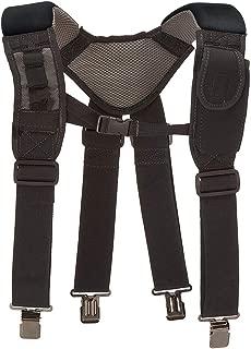 hothuishi Duty Belt Suspenders,Adjustable Tool Belt Shoulder Straps,Tool Belt with Suspenders,Work Tool Belt with Comfortable Padded Shoulders Complete with 4 Clips,Black