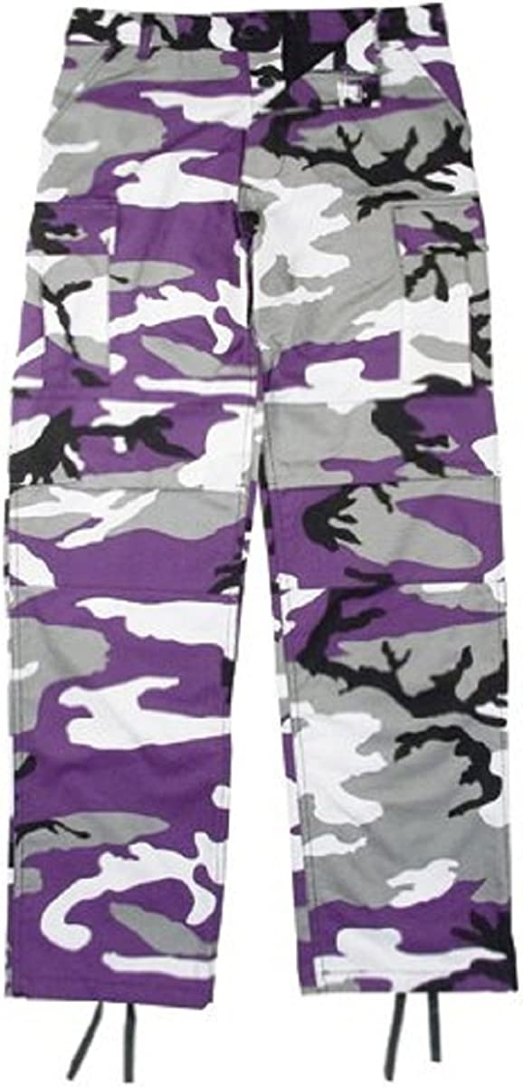 Kids shipfree shopping Purple Camouflage Pants BDU